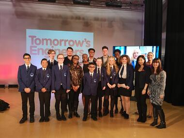 Tomorrows Engineers Week Big Assembly Panel with students from Cedars Acadamy
